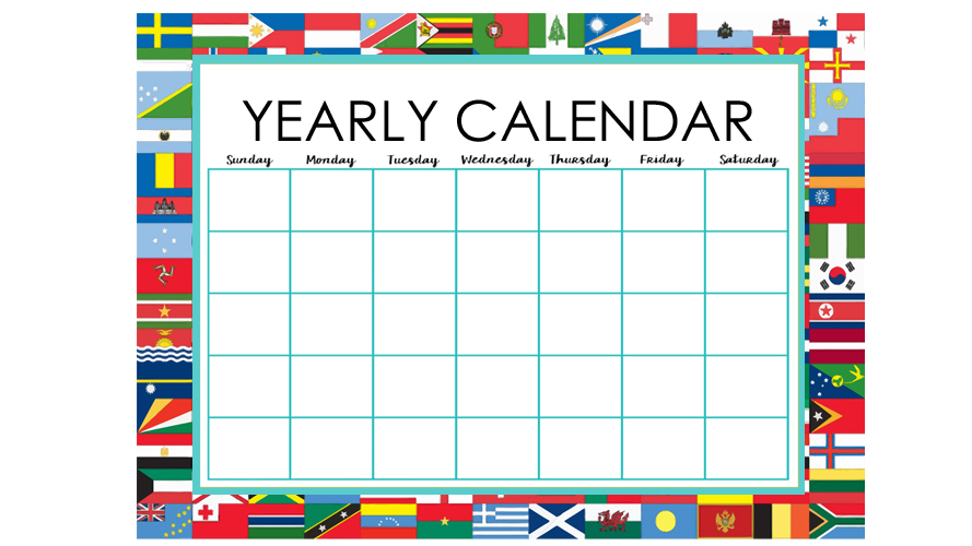 All Countries Yearly Calendar